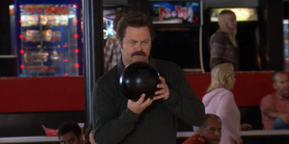 Ron Swanson describes his bowling technique picture1