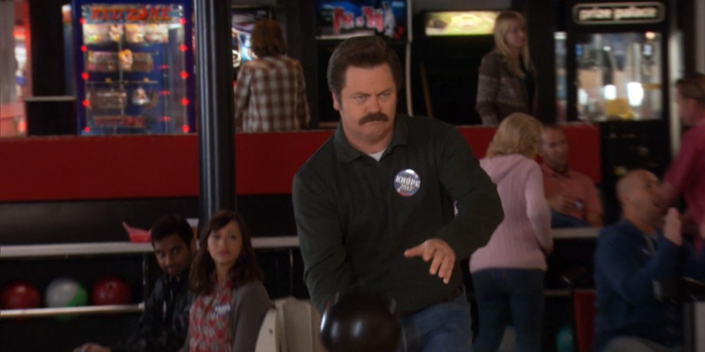 Ron Swanson describes his bowling technique picture2