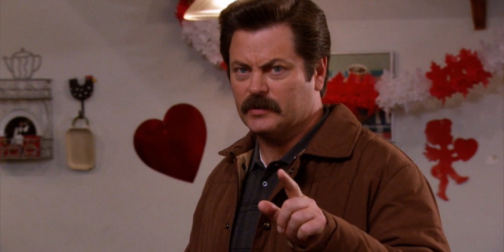 Ron Swanson hates riddles