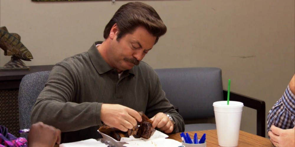 Ron Swanson has a great attitude for ribs picture 2