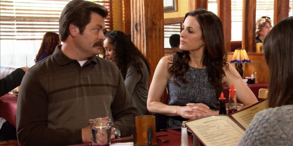 Ron Swanson explains how his love of strong women may have developed.