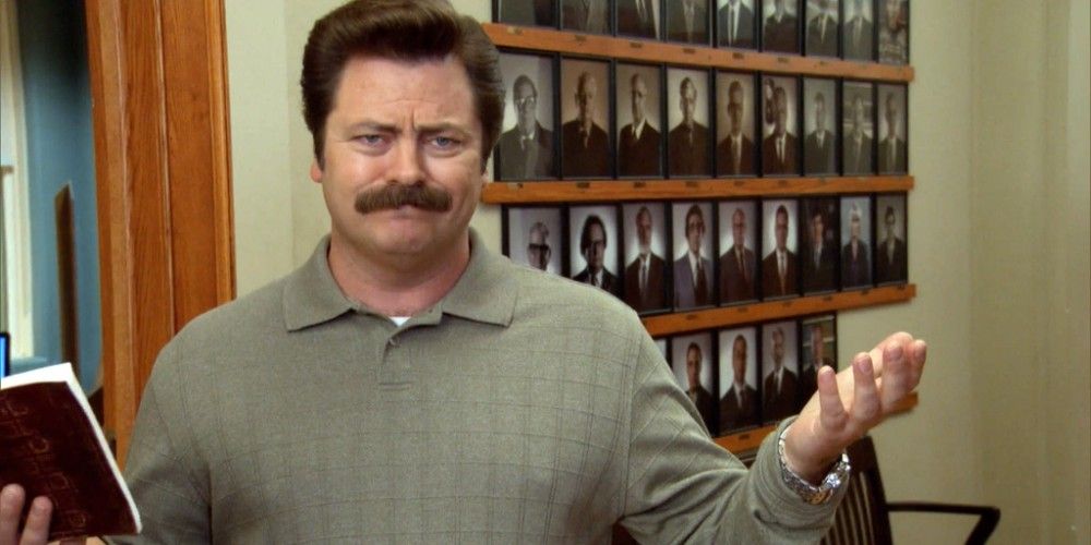 Ron Swanson dreams of closing down the government