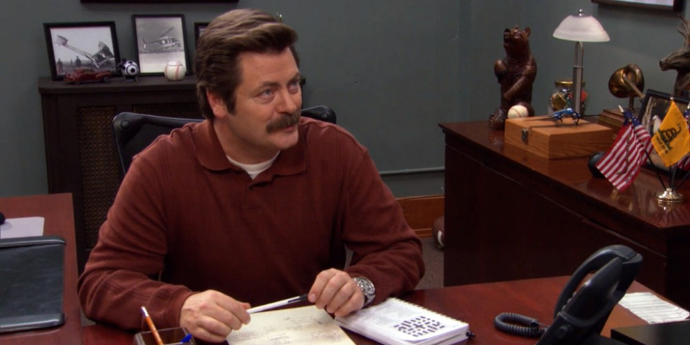 Ron Swanson trying to reduce government spending