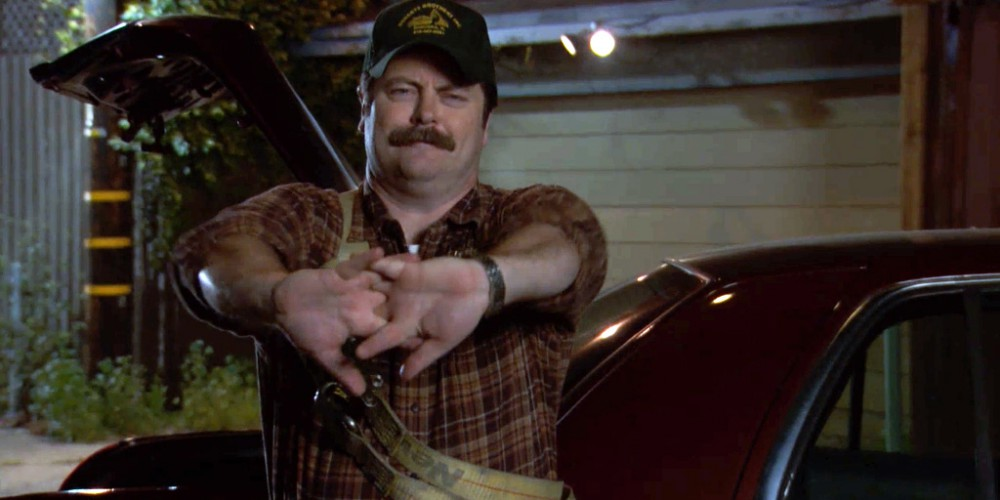 Ron Swanson Swanson, cable thief picture 2