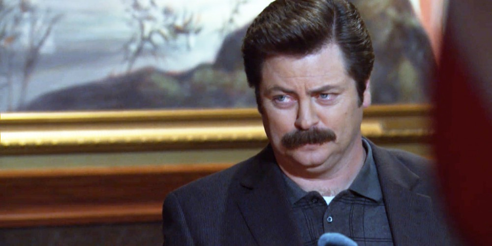 Ron Swanson drank eleven whiskies