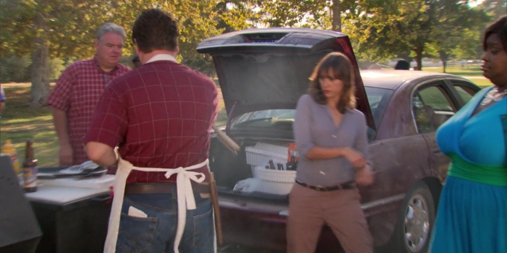 Ron Swanson towing the grill away picture3