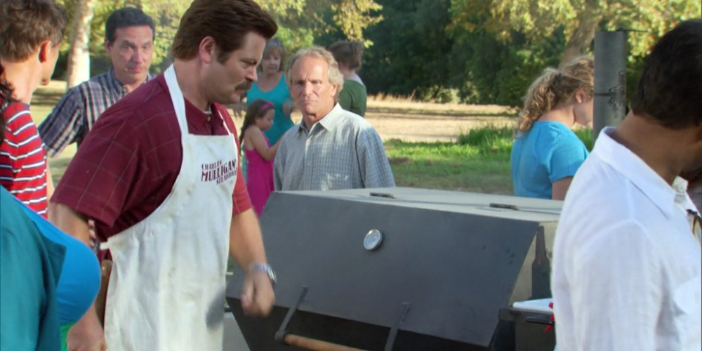 Ron Swanson towing the grill away picture4
