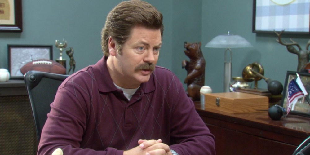 Ron Swanson tried to fire Leslie four times