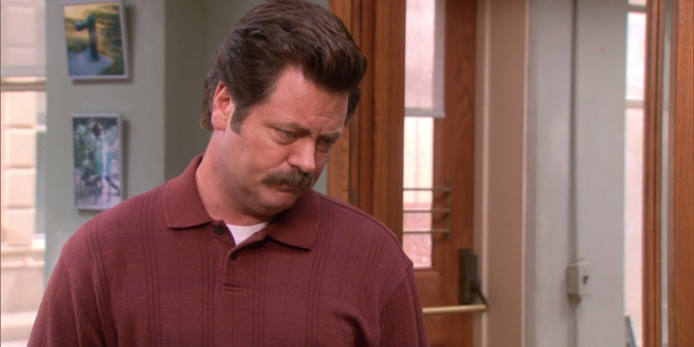 If Tom screws up again, he will have Ron Swanson to answer to
