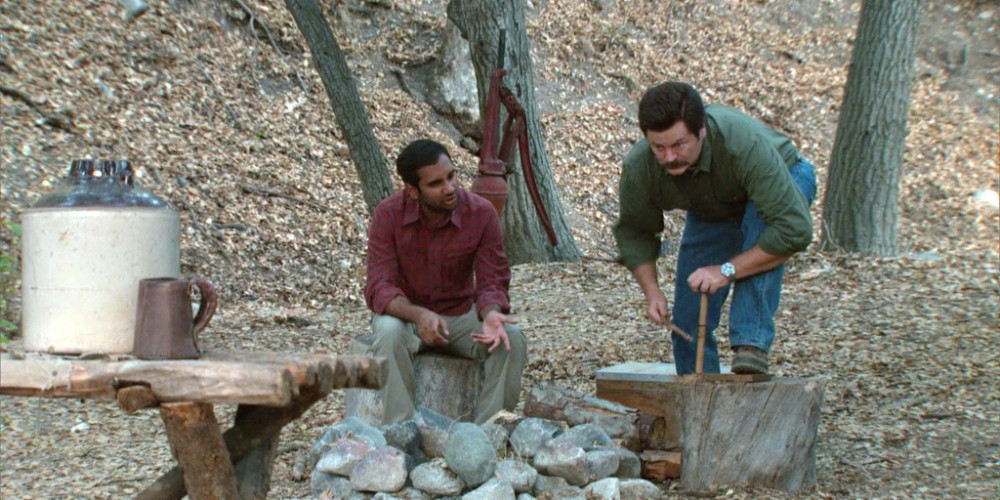 Ron Swanson and Tom in nature picture3