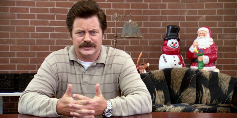 Ron Swanson booby traps his house
