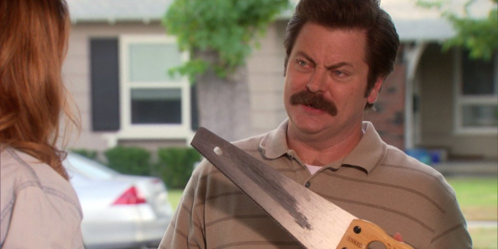 Ron Swanson can teach the girls to saw.
