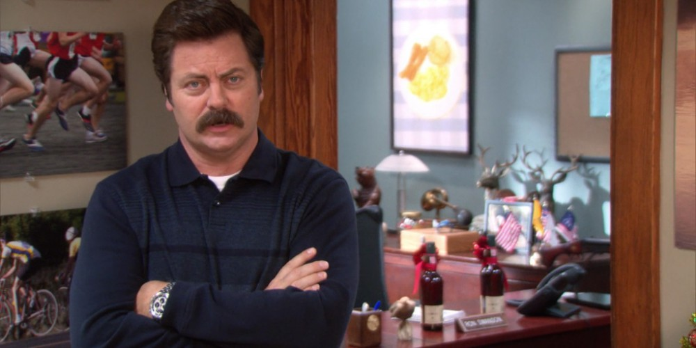 Ron Swanson explains hot to win an award for building a chair