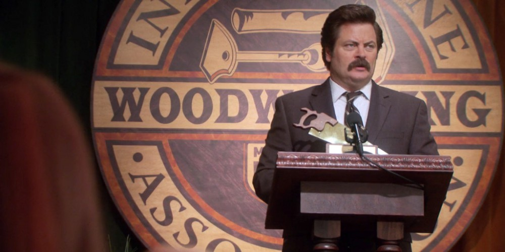 Lastest Ron Swanson Says I Once Worked With A Man For Three Years And Never