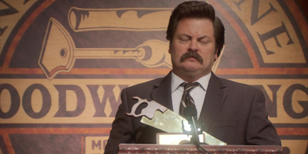 Ron Swanson gets distracted by Tammy Two picture5