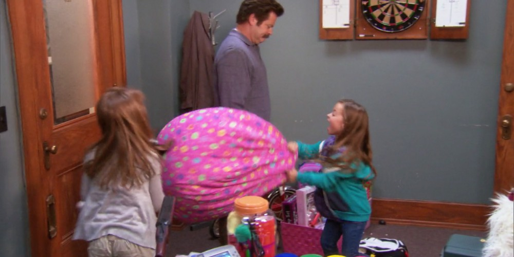 Ron Swanson the babysitter picture3
