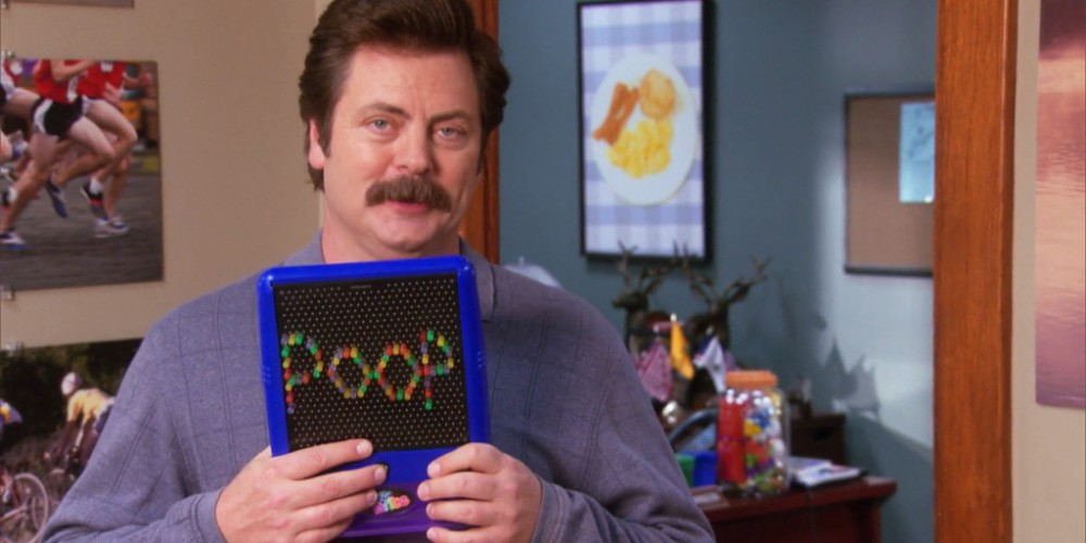Ron Swanson the babysitter picture4
