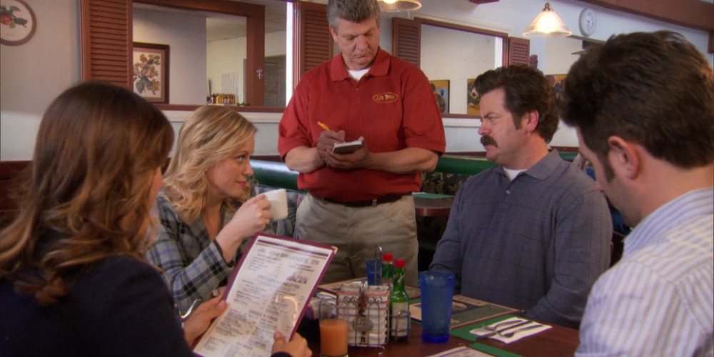 How Ron Swanson orderers breakfast at JJ's