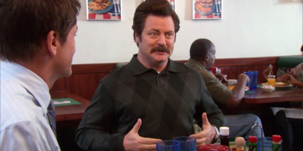Ron Swanson is ready for an epic breakfast