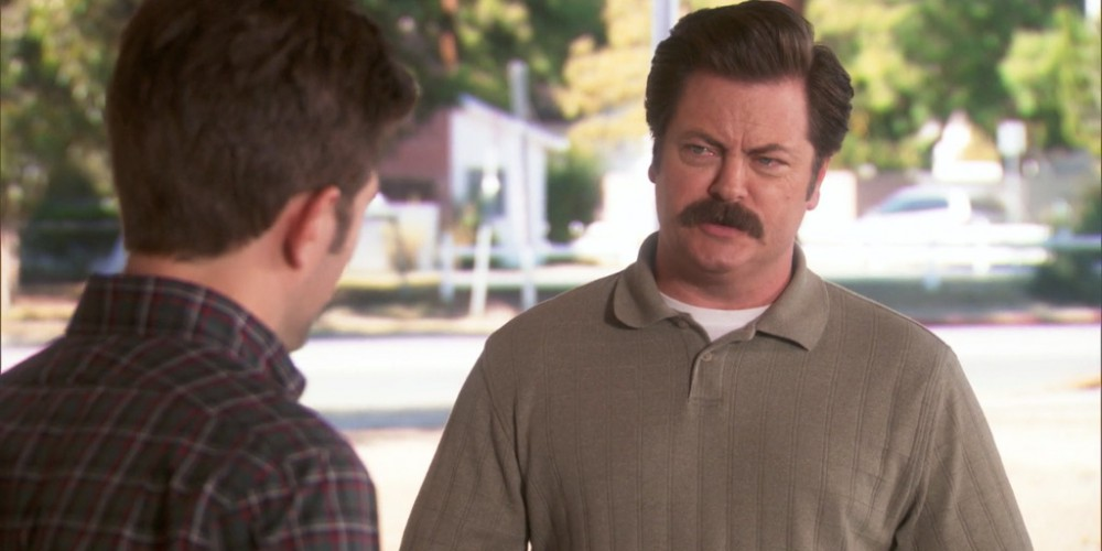 Ron Swanson is going on TV