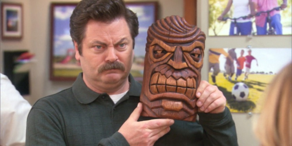 Ron Swanson and the Hawaiian God of Anger