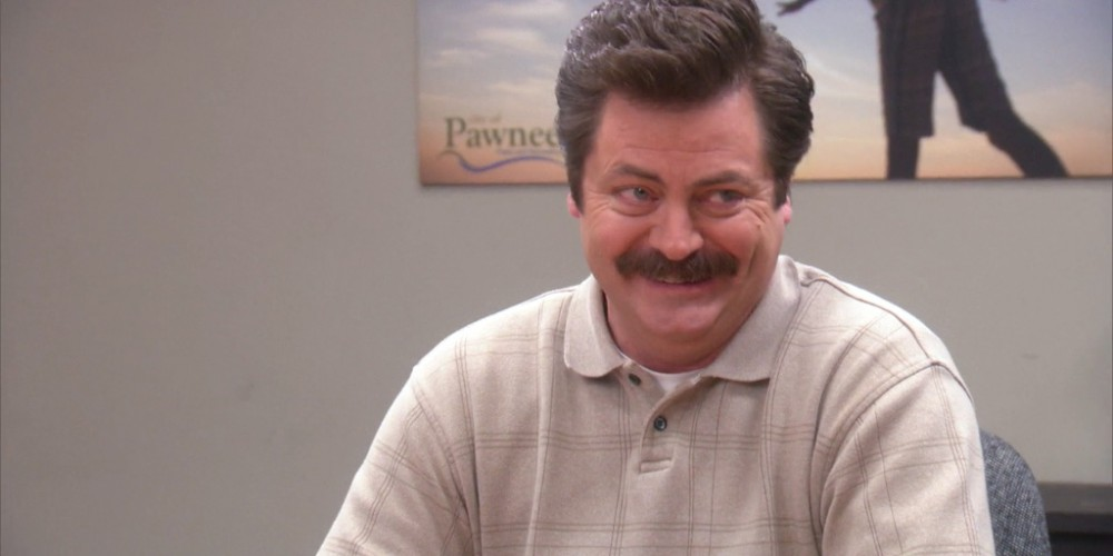 Ron Swanson tells a government joke