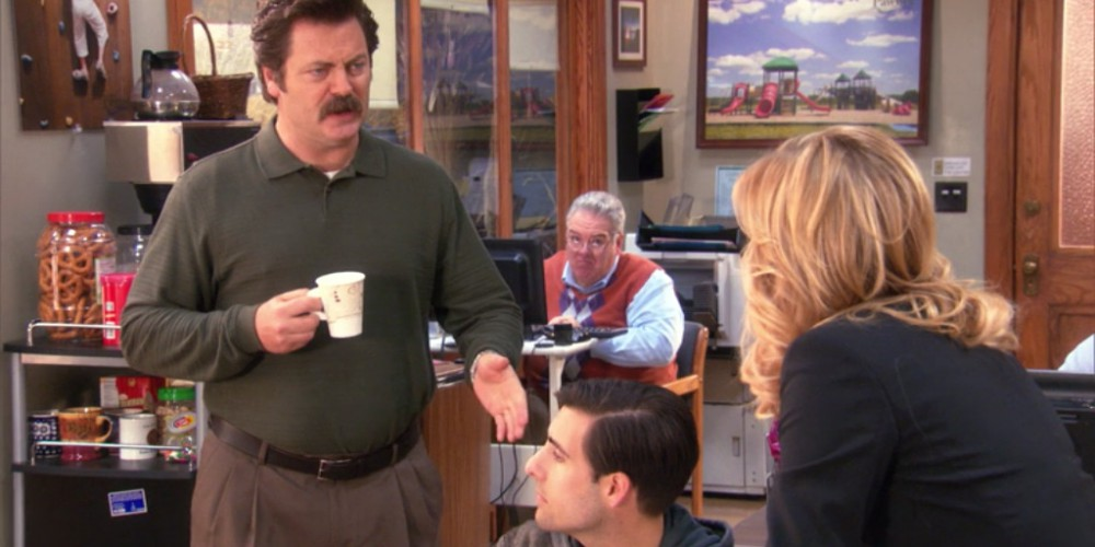 Ron Swanson is not a fan of bailouts.