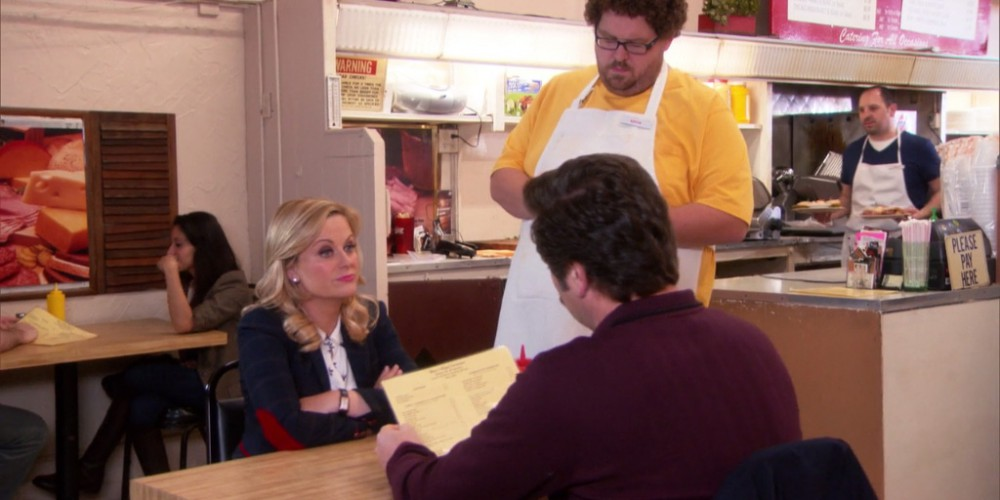 Ron Swanson orders the party platter