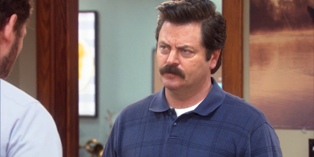 Ron Swanson represents himself in all legal matters