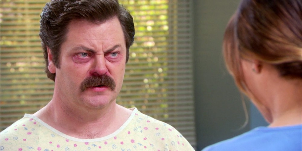 Ron Swanson Swanson's Medical History