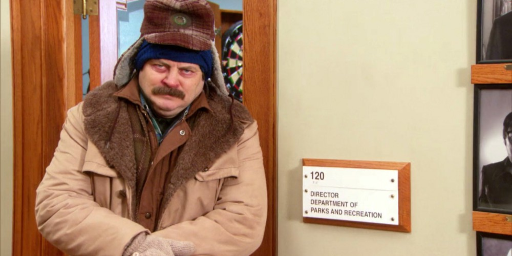 Ron Swanson is sick