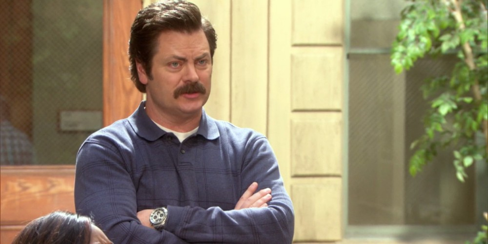 Ron Swanson prefers Tom Haverford teaches his potential investor the ultimate lesson in capitalism
