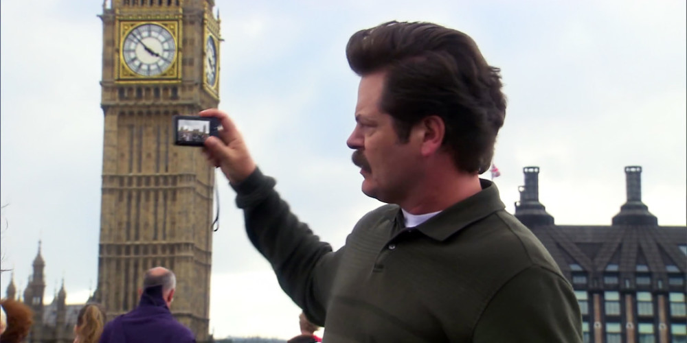 Ron Swanson is not impressed by Big Ben
