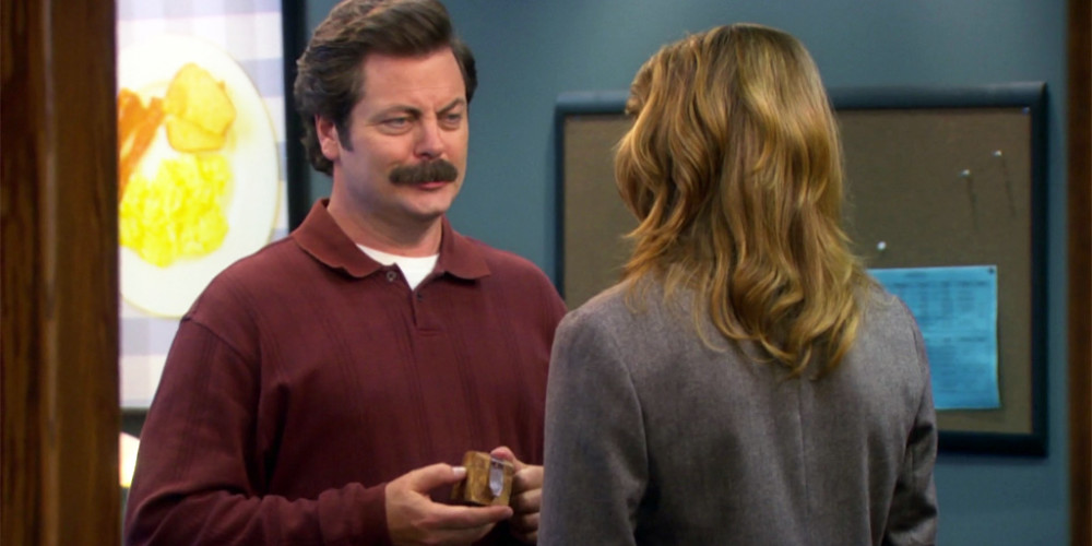 Ron Swanson proposes to Diane
