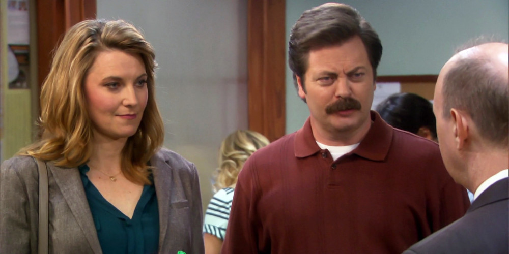 The Justice of the Peace recognizes Ron Swanson