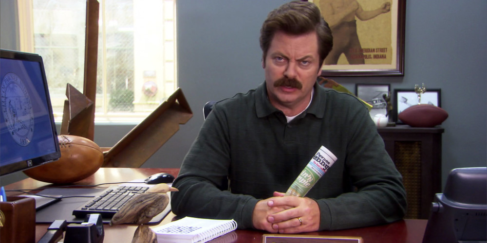 Ron Swanson takes his right to privacy very seriously