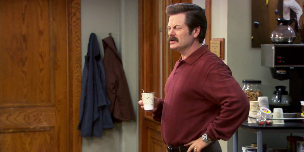 Ron Swanson does not like Yerba Matte Tea