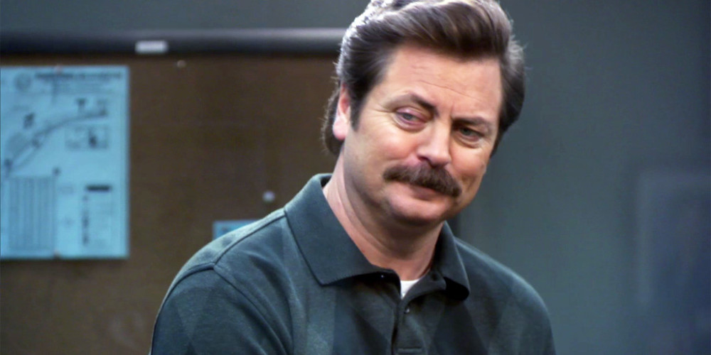 Ron Swanson tells his first joke