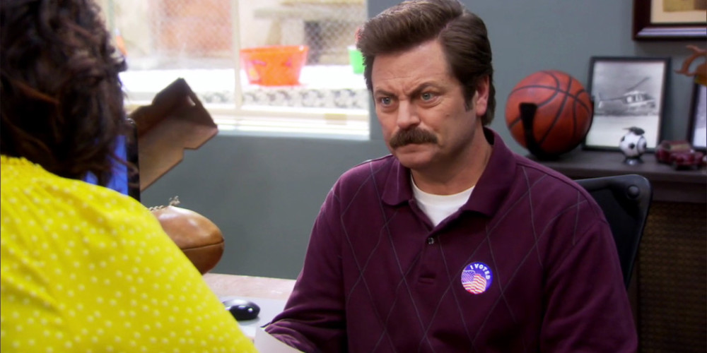 Ron Swanson's chair will be featured in Bloosh Magazine