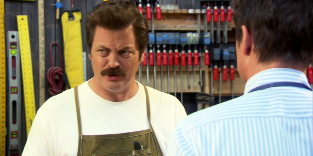 Ron Swanson hates metaphors, but loves Moby Dick