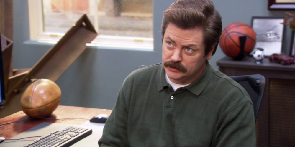 Ron Swanson does not like French words