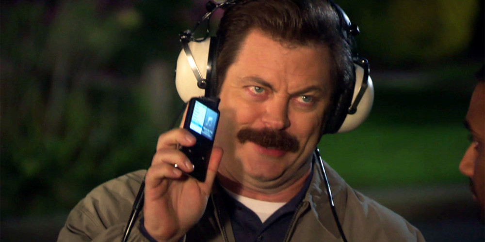 Tom put all Ron Swanson's records in this rectangle