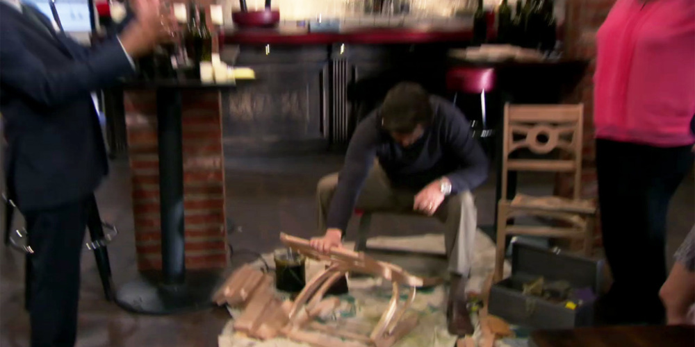 Ron Swanson's wood work is sometimes too perfect