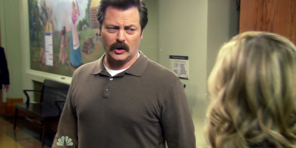 Ron Swanson delivered a flawless presentation
