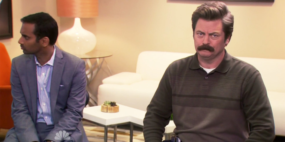 Ron Swanson questions celebrity
