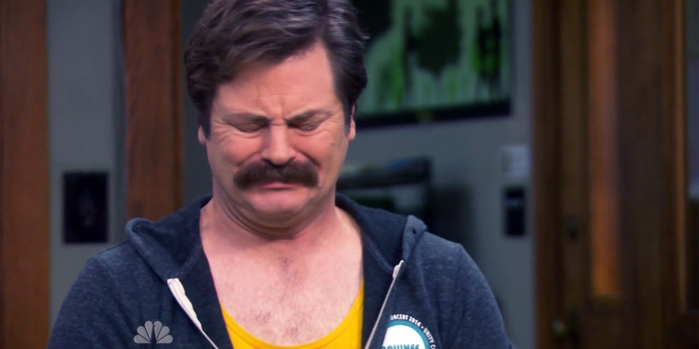 Ron Swanson was going to ask for a job in the Federal Government picture1