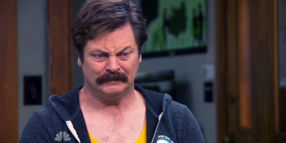 Ron Swanson was going to ask for a job in the Federal Government picture2