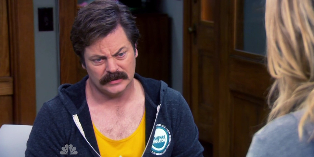 Ron Swanson loves shutting things down and bleeding the rotting beast from the inside