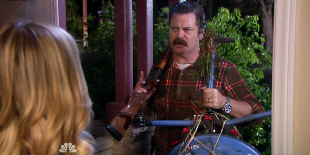 Ron Swanson destroyed the robot picture2