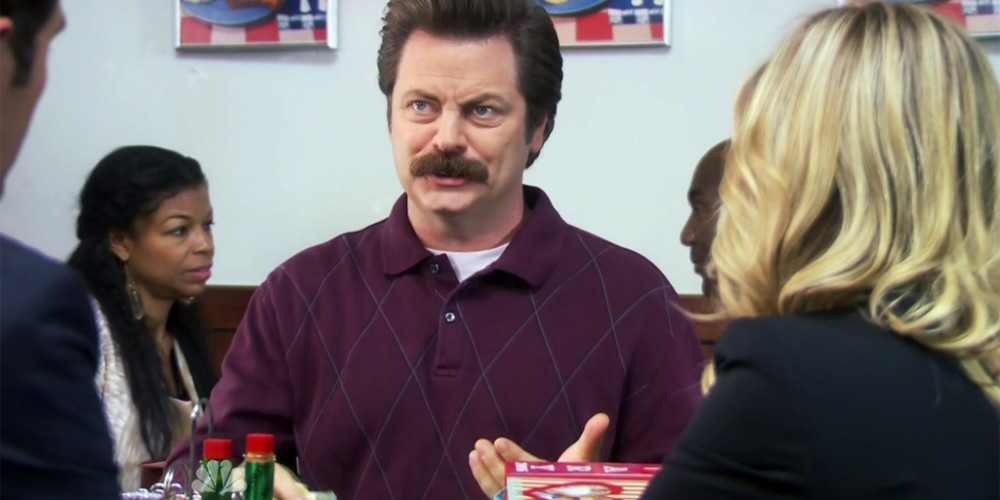 Ron Swanson is protecting his son's privacy picture1